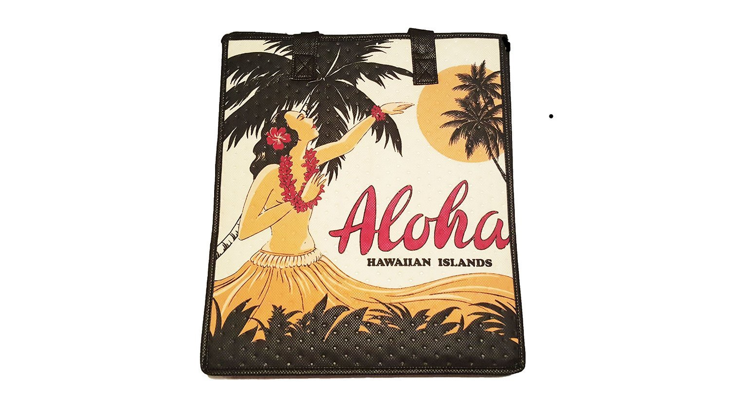 hawaiian insulated lunch bag assorted small medium large red