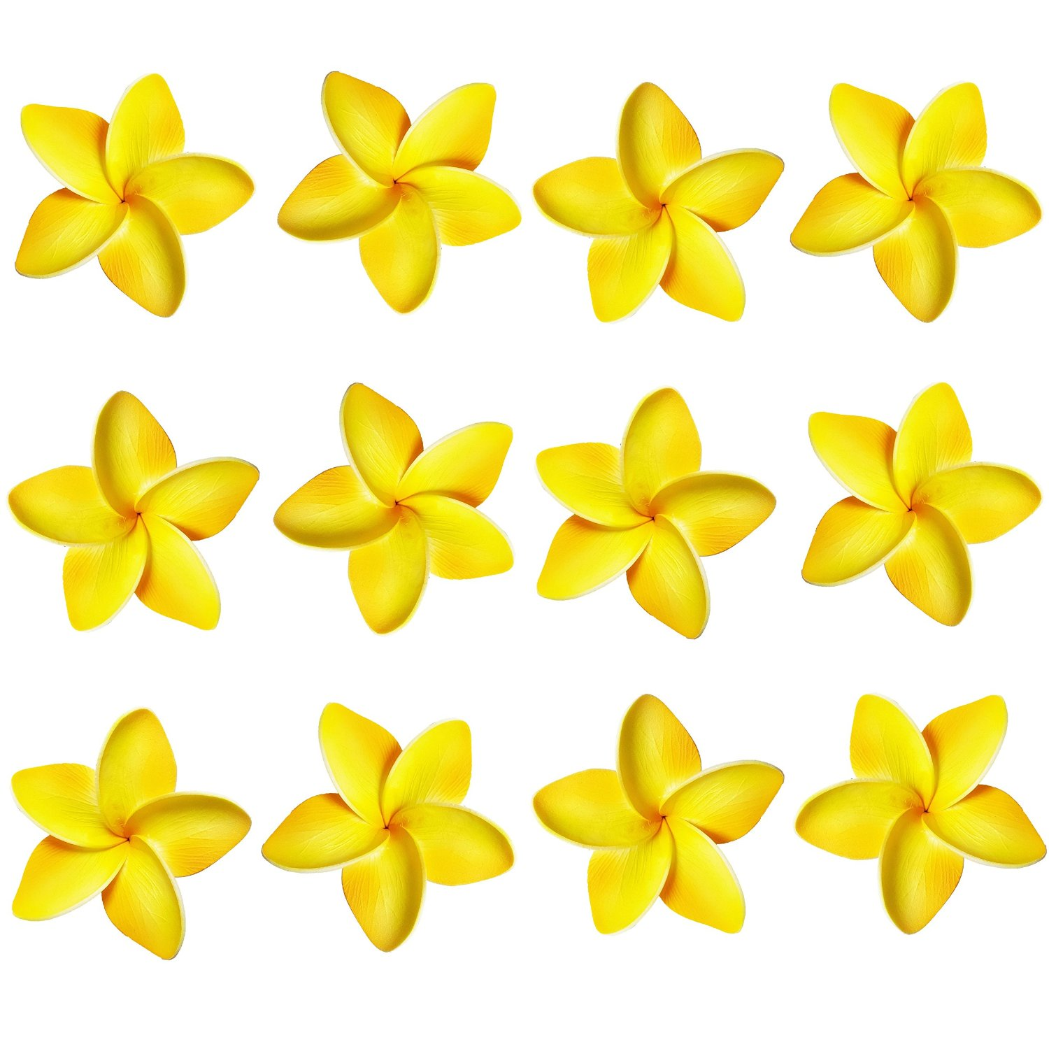 Realistic Foam Plumeria Hair Clips Set Of 12 Red Elephant Gifts